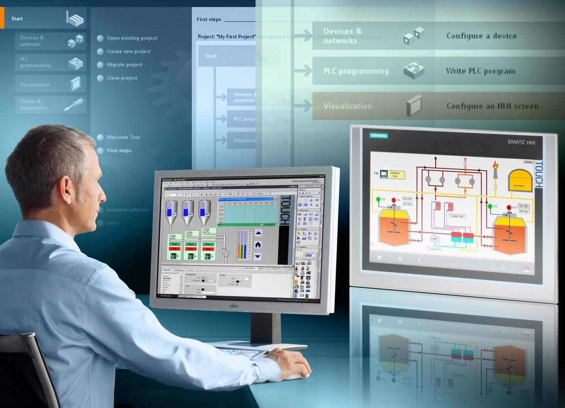 Alle Aufgaben des Bedienens und Beobachtens effizient und einheitlich lösen / Efficient and uniform handling of operator control and monitoring tasks